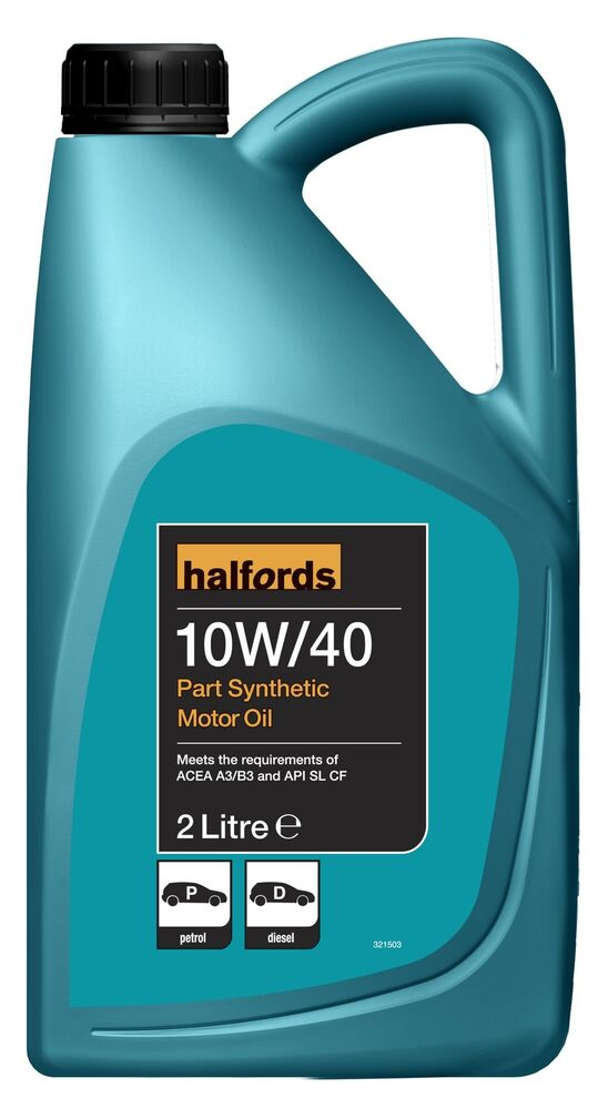 Halfords sae 10w 40 petrol diesel engine motor oil semi for 10w 40 synthetic motor oil