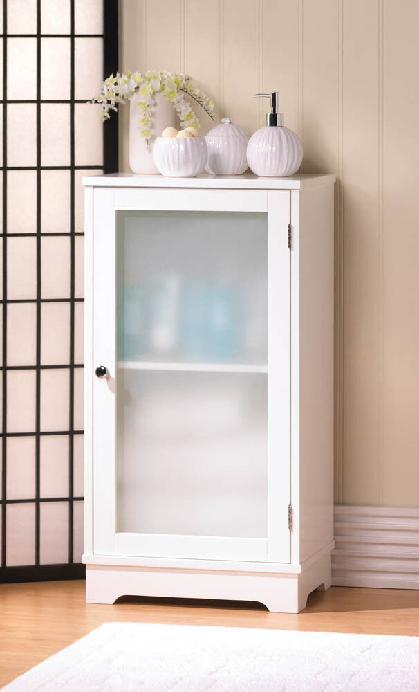 white bathroom cabinet with glass doors aspen white storage floor cabinet frosted glass door bath 25869