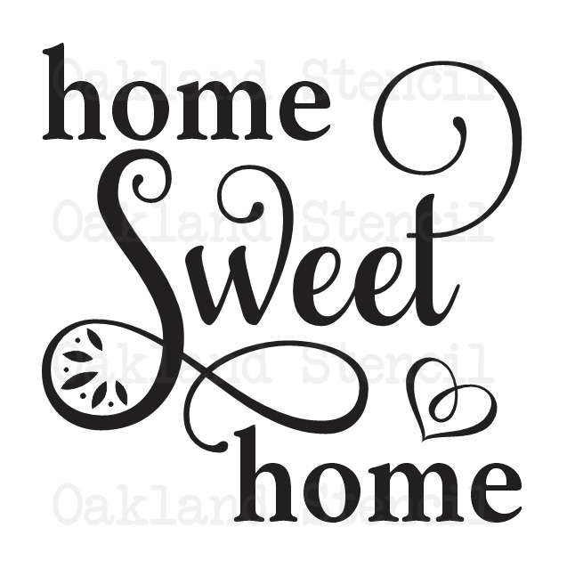 Home sweet home stencil 12x12 for painting signs wood for Quote stencils for crafts