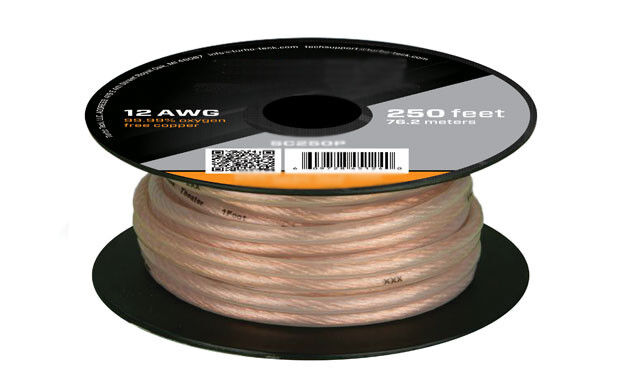 100ft 12awg Oxygen Free Pure Bare Copper Speaker Wire