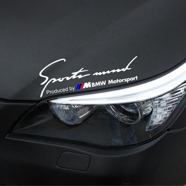 bmw sport mind motosport aufkleber sticker tattoo f r bmw m3 m5 m6 auto decor ebay. Black Bedroom Furniture Sets. Home Design Ideas