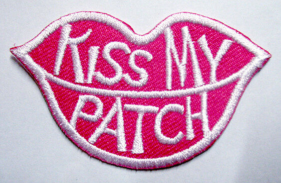 Cute pretty kiss my patch lip logo embroidered iron on