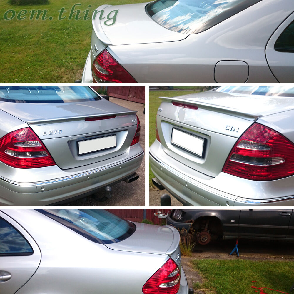 Painted mercedes benz w211 a type rear trunk spoiler wing for 2006 mercedes benz e550