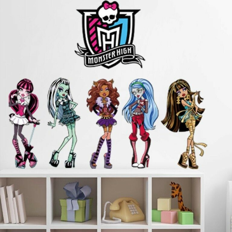 Monster high girls wall decal removable stickers decor art for Girls wall art