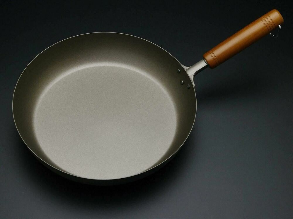 Pure Titanium Frying Pan With Wooden Handle Amazing