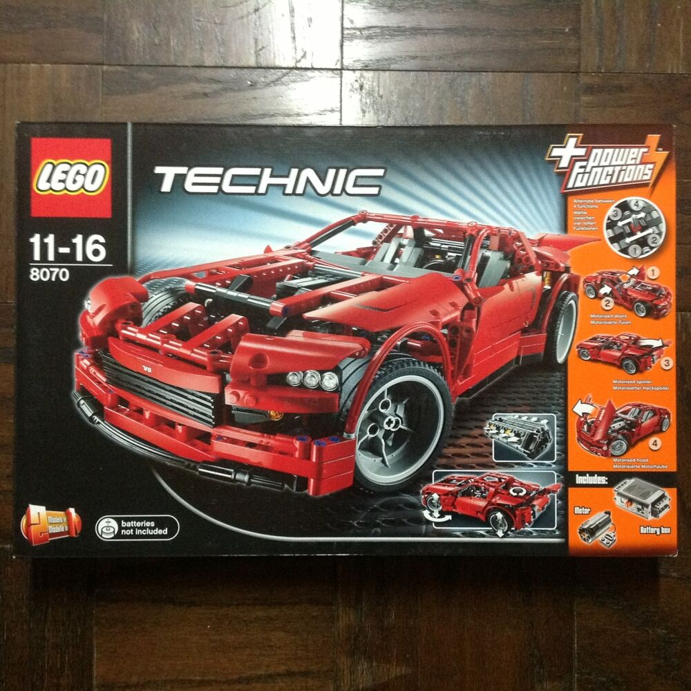 new lego technic supercar 8070 in sealed box. Black Bedroom Furniture Sets. Home Design Ideas