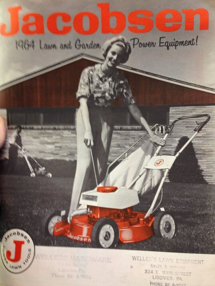 Lawn And Garden Supply : Jacobsen lawn and garden equipment brochure original