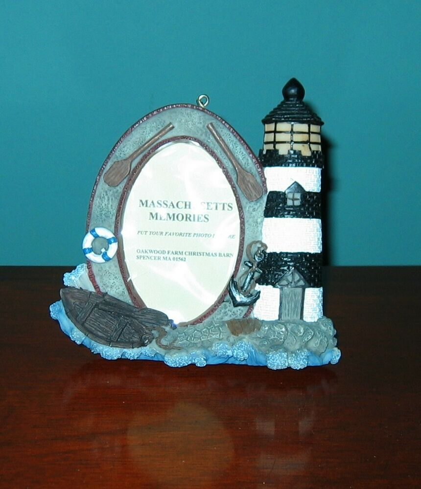 Photo Display Frame CANDY STRIPED LIGHTHOUSE from Oakwood Farm ...
