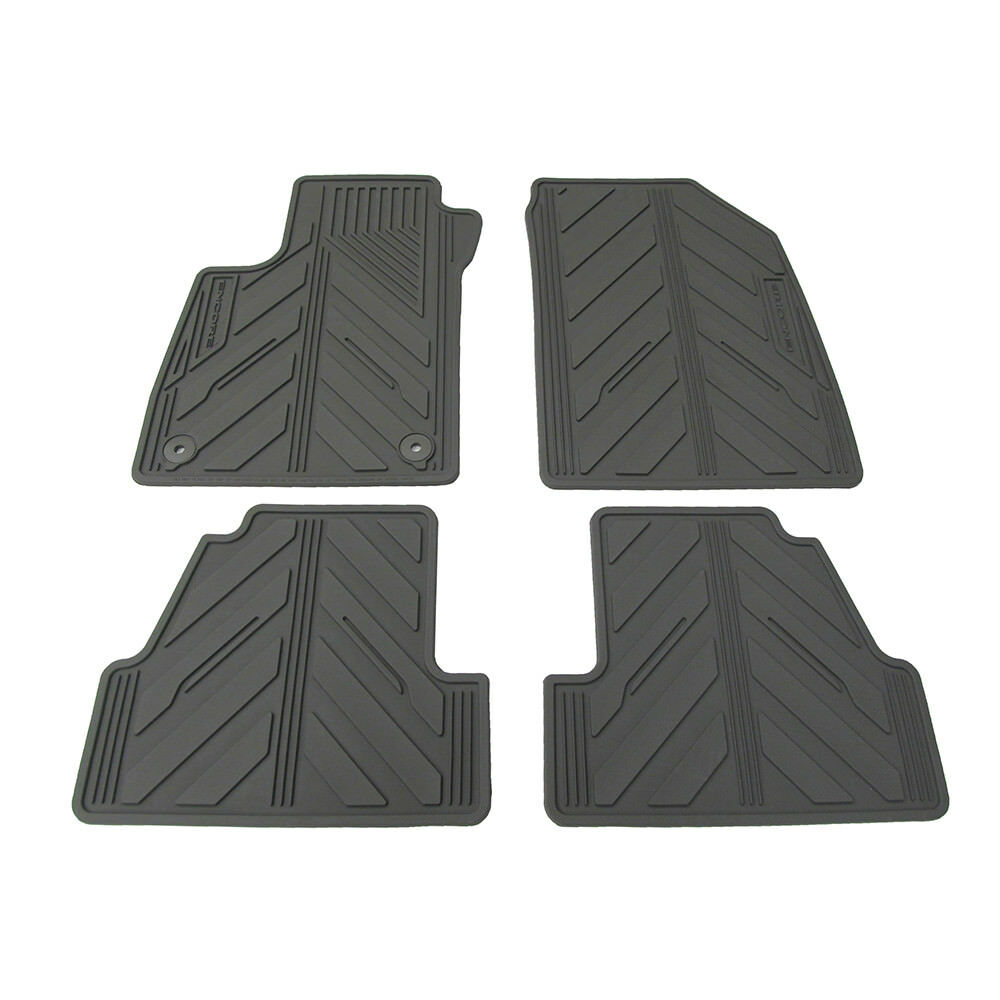 2015 Buick Encore Premium All Weather Rubber Floor Mats Titanium Genuine Oem New Ebay