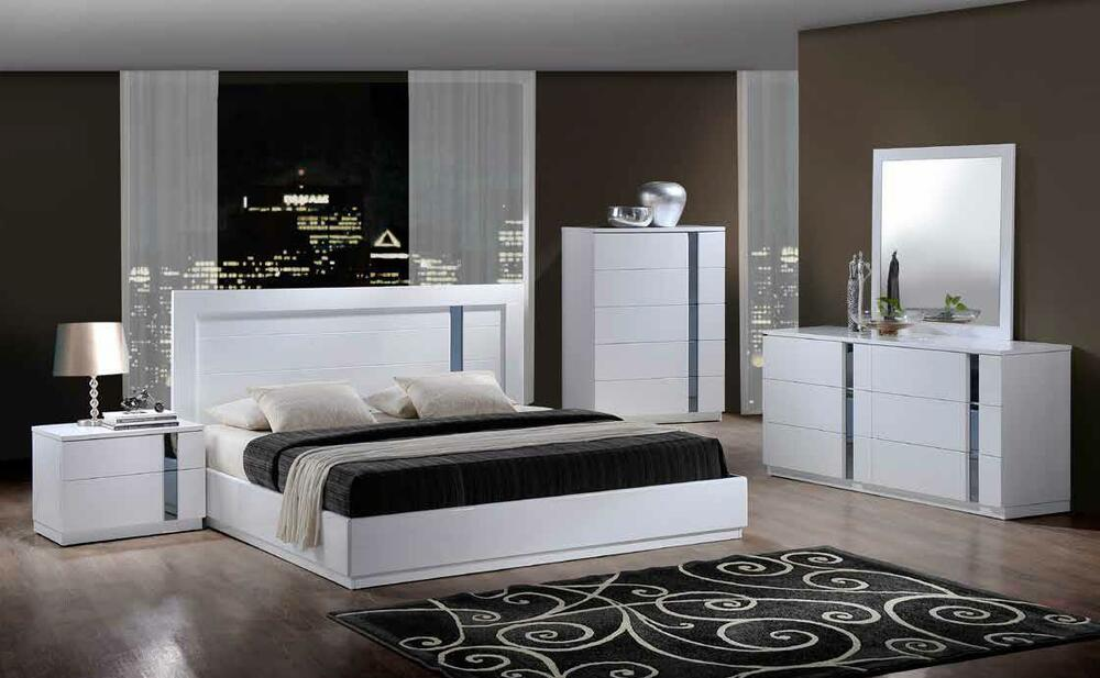 JODY KING SIZE MODERN WHITE BEDROOM SET 5PC GLOBAL