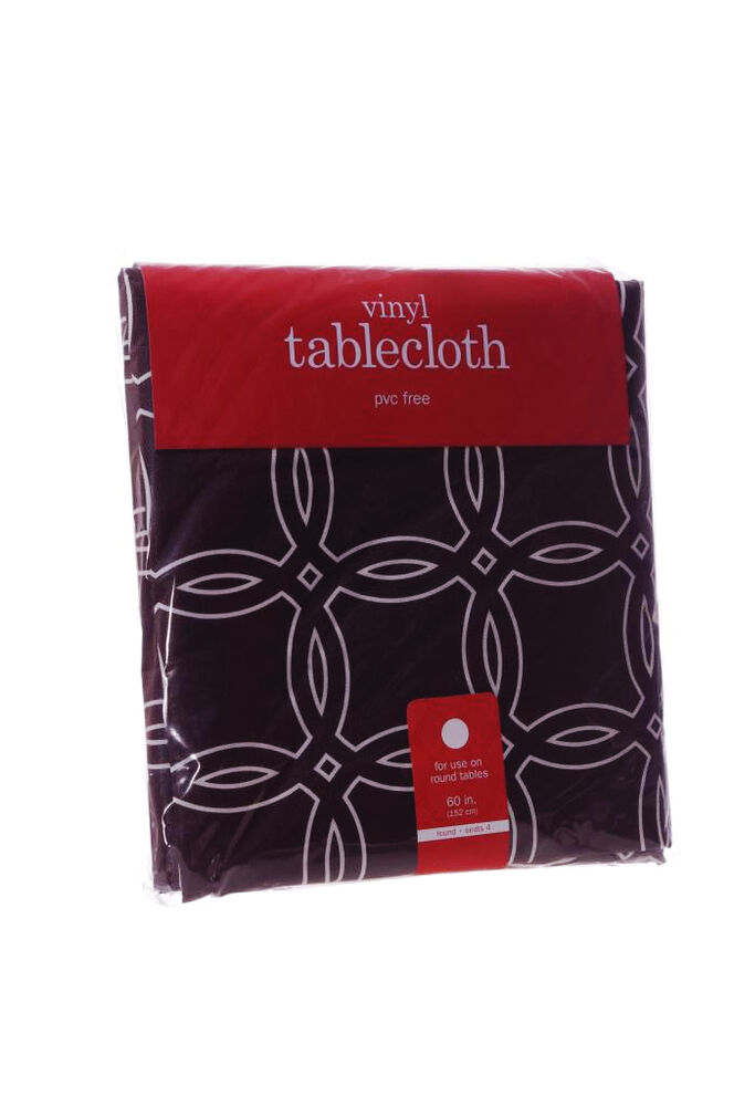 Round Fall Vinyl Simple Modern Thanksgiving Table Cloth