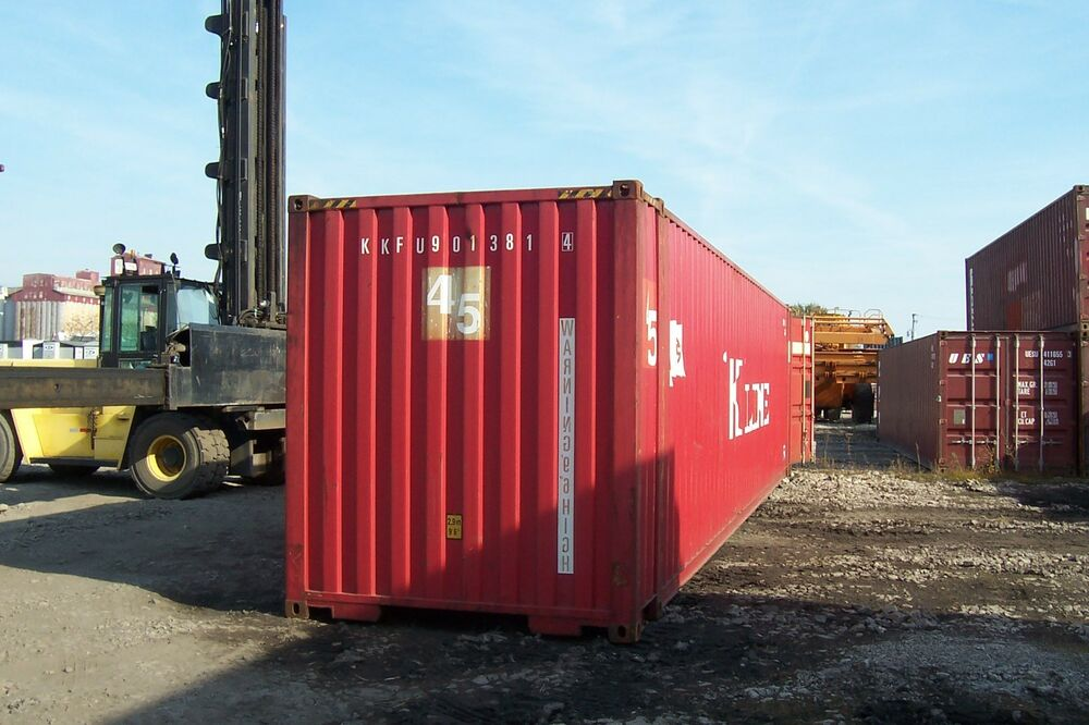 45 39 high cube cargo storage shipping container chicago il ebay - Shipping container homes chicago ...
