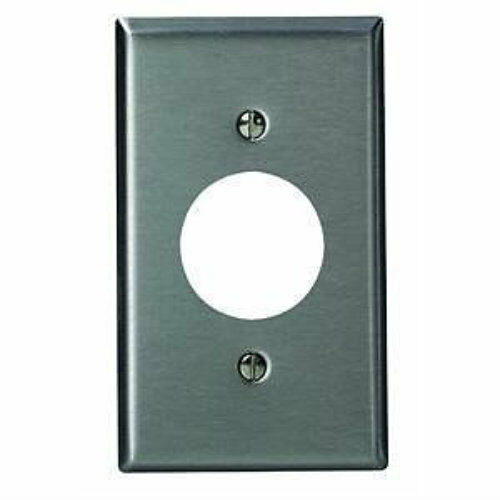Leviton stainless steel gang hole device