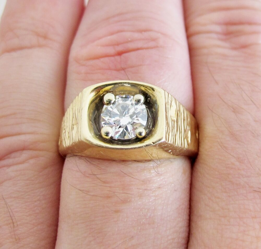 Vintage 14k Gold Ring With 1 25 Carat Diamond Amp 14 500