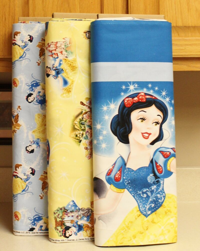 Disney Snow White Quilt Panel Amp Coordinating Fabrics By