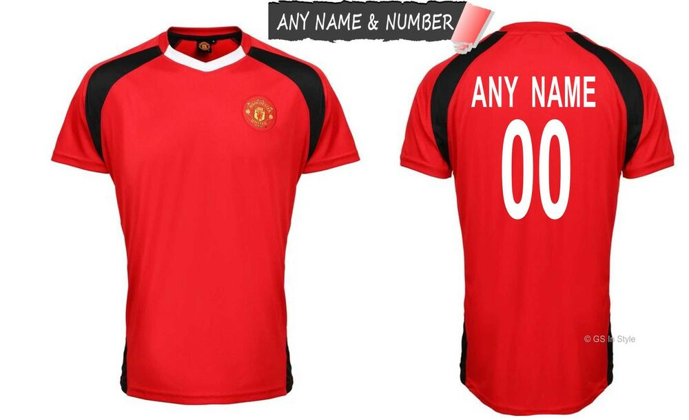 Personalised Kids Manchester United Fc Official Football T
