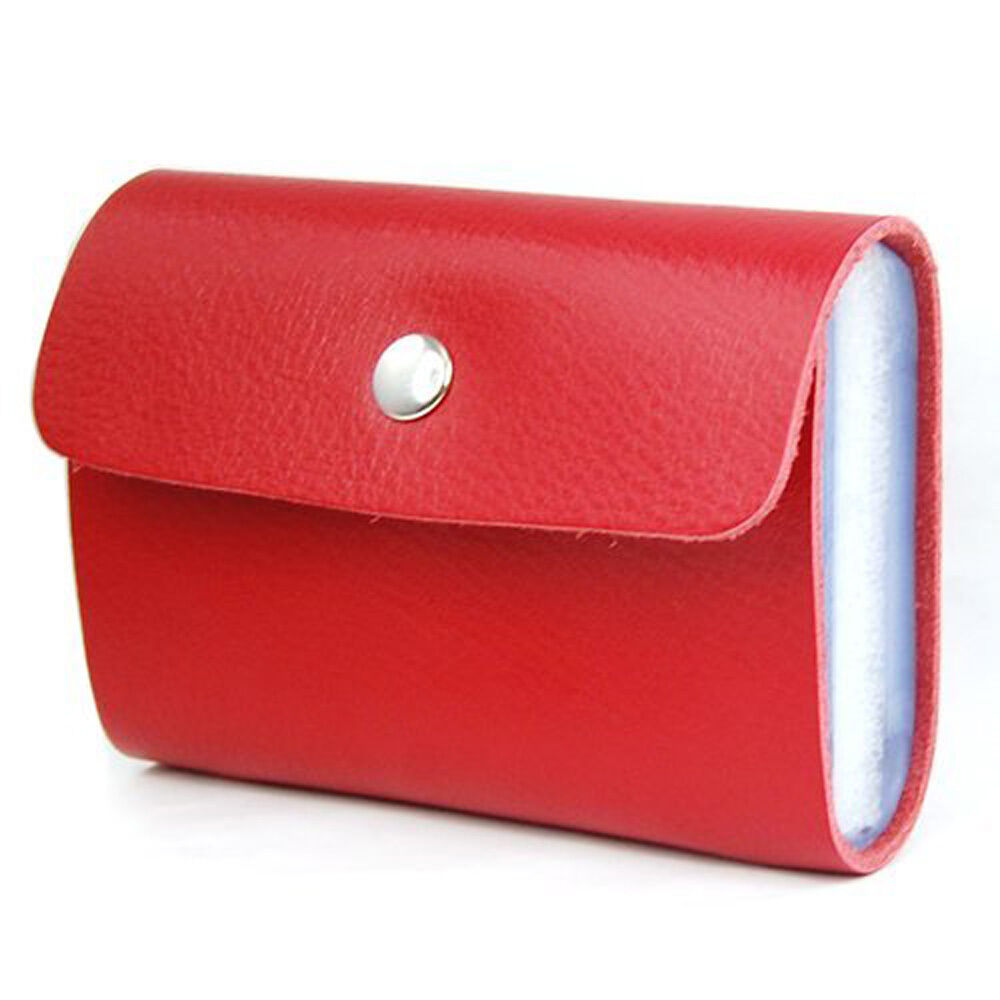 Red Premium Leather Wallets Credit Card Holder ID Business ...