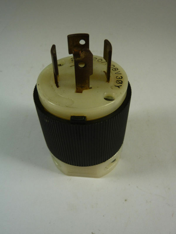 Hubbell HBL2441 Locking Plug 20 Amp 120V USED eBay