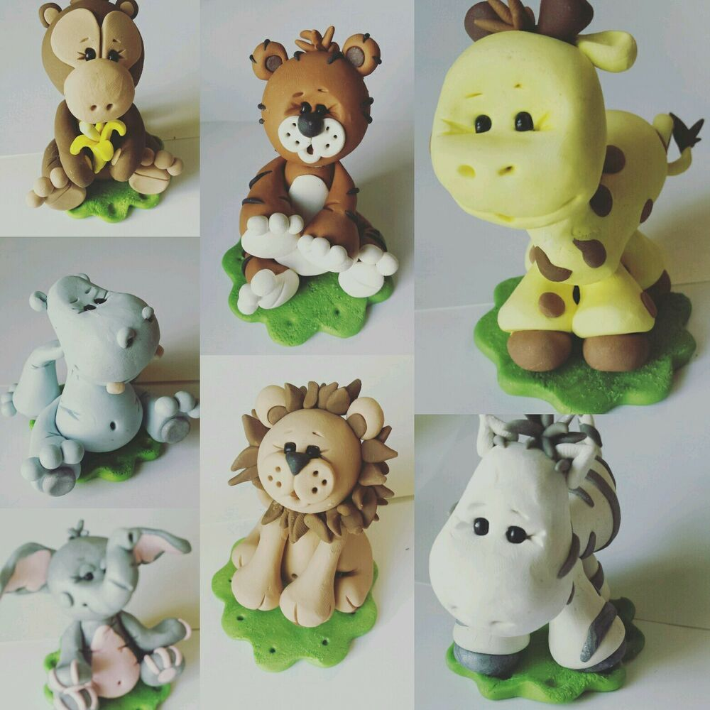 Cake Topper Jungle Animals Baby Shower or Birthday Choice ...