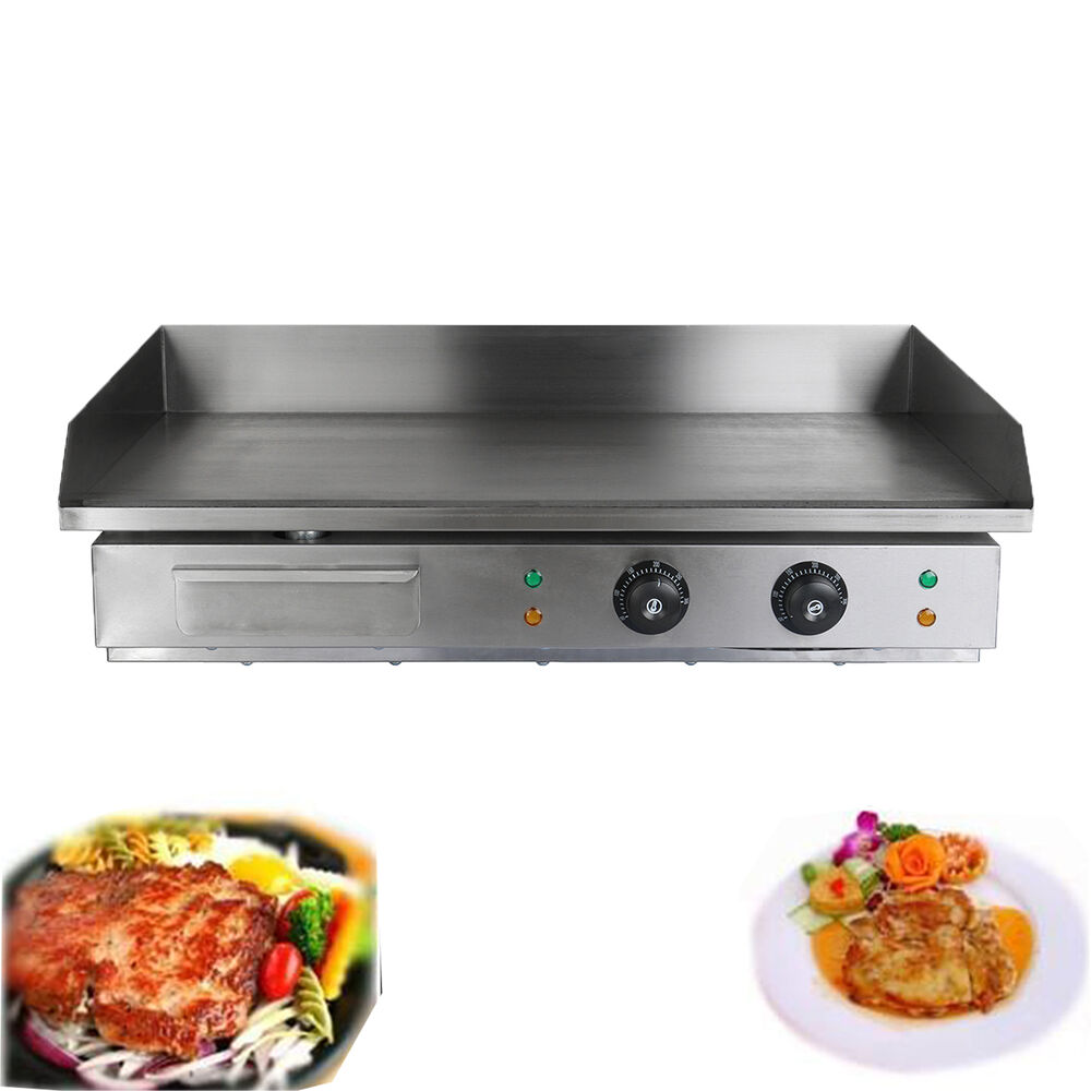 W electric griddle grill hot plate stainless steel