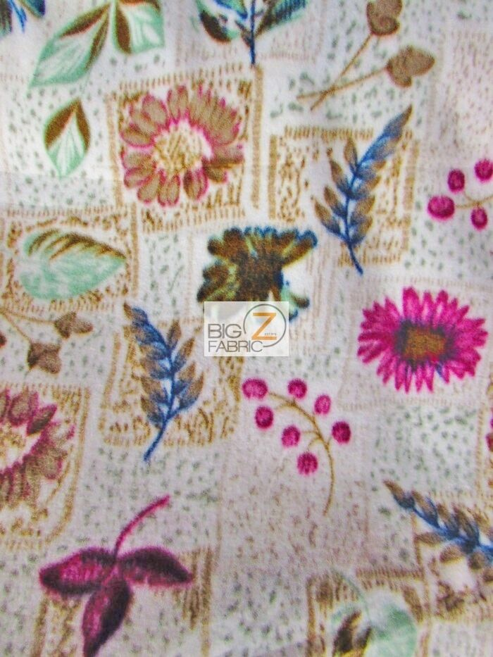 floral garden fleece printed fabric 60 width sold by the yard anti pill 870 ebay. Black Bedroom Furniture Sets. Home Design Ideas