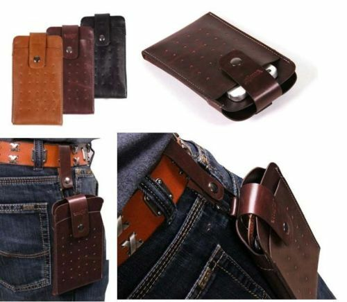 Men's PU Leather Belt Clip Case Holster Carrying Cover ...