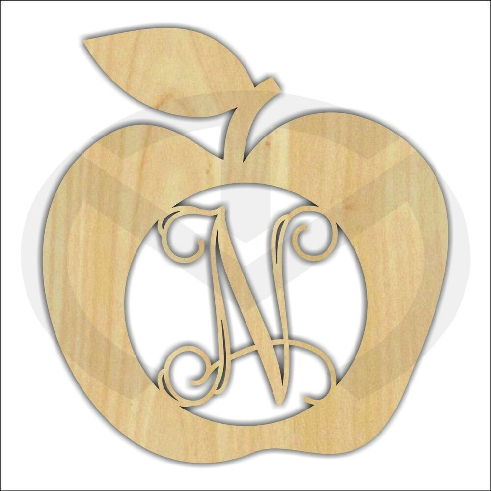 Wall Decor Out Of Wood : Apple unfinished wood laser cut out door or wall decor