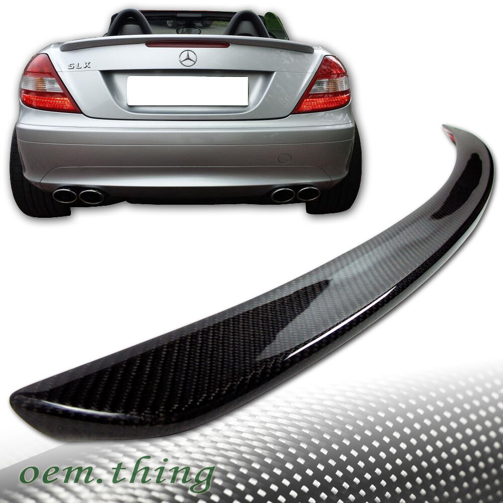 Carbon mercedes benz r171 convertible a trunk spoiler for Mercedes benz slk accessories