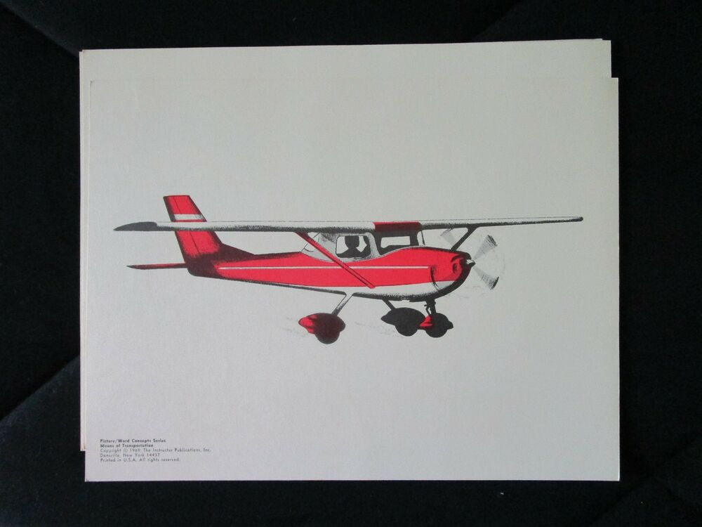 Vintage teaching picture small airplane nursery decor for Airplane wall decoration