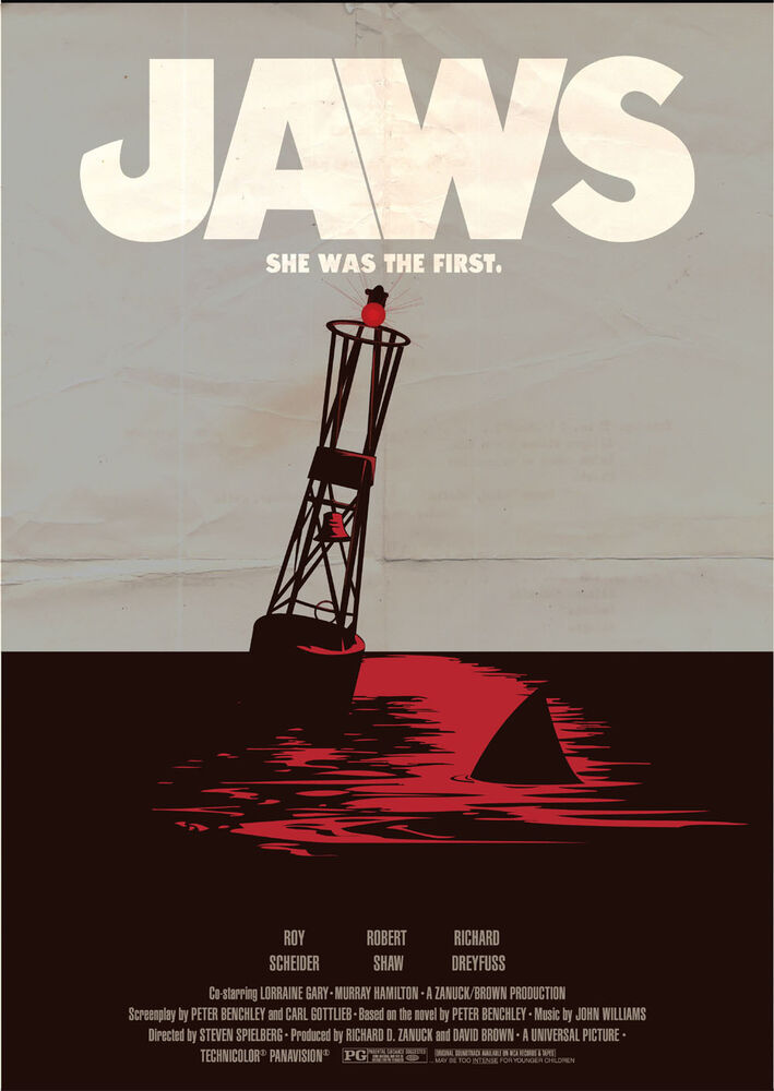 JAWS Movie Large Vintage JAW02 Giant Large Wall Art Pic ...