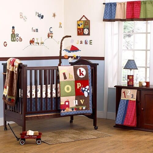 12 pc cocal a z boys crib bedfing set 199 ebay