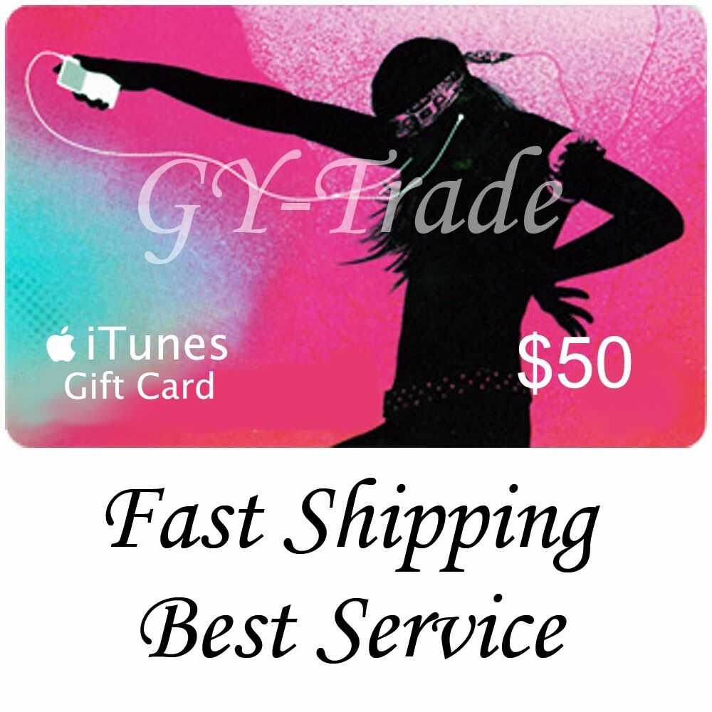 apple itunes 50 us gift card voucher certificate code usa usd dollars 100 fast ebay. Black Bedroom Furniture Sets. Home Design Ideas