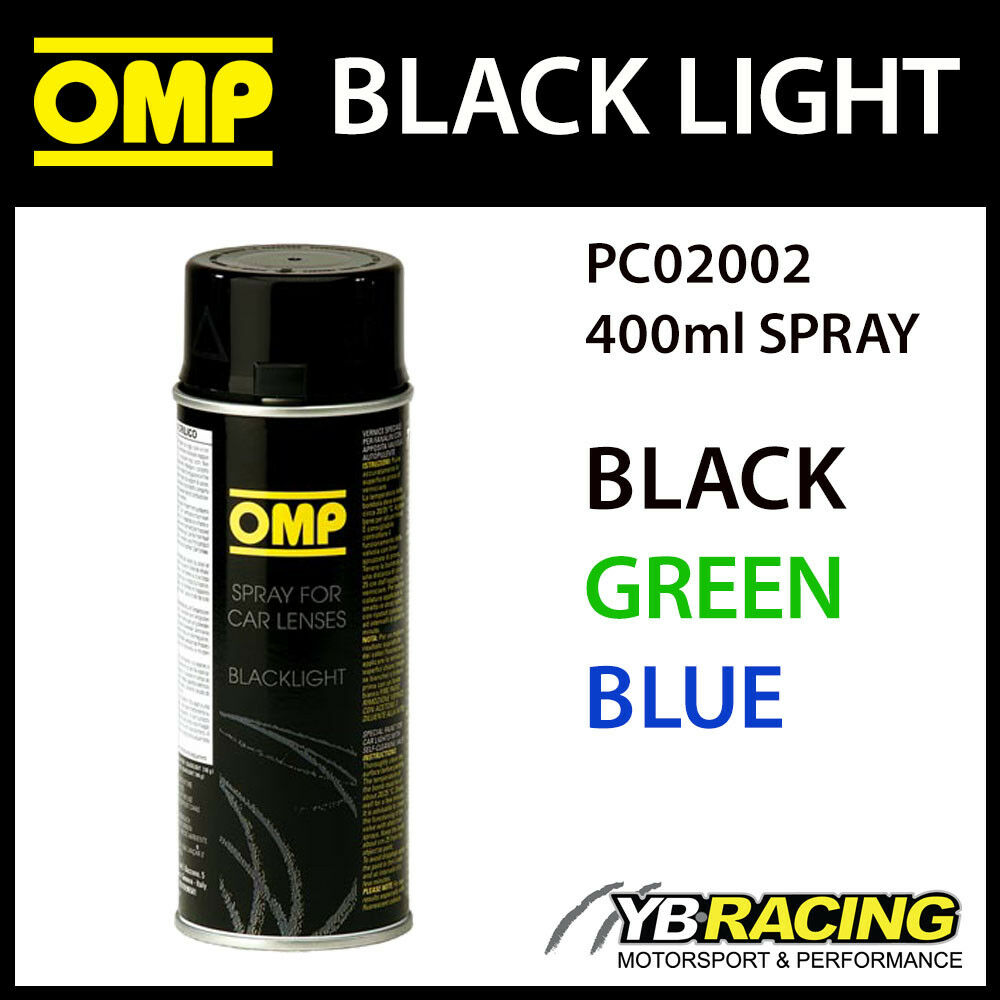 Pc02002 Omp Black Light Spray Paint For Custom Lights Colour Black Green Blue Ebay