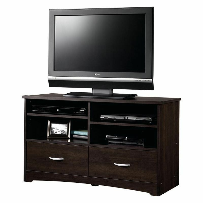 Modern tv stand media entertainment center home theater cabinet wood furniture ebay Home furniture tv stands