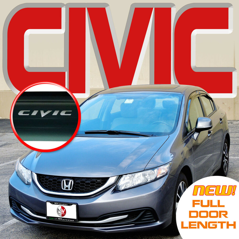 Civic 2012 2015 Sedan Window Deflectors Sun Visors Vent
