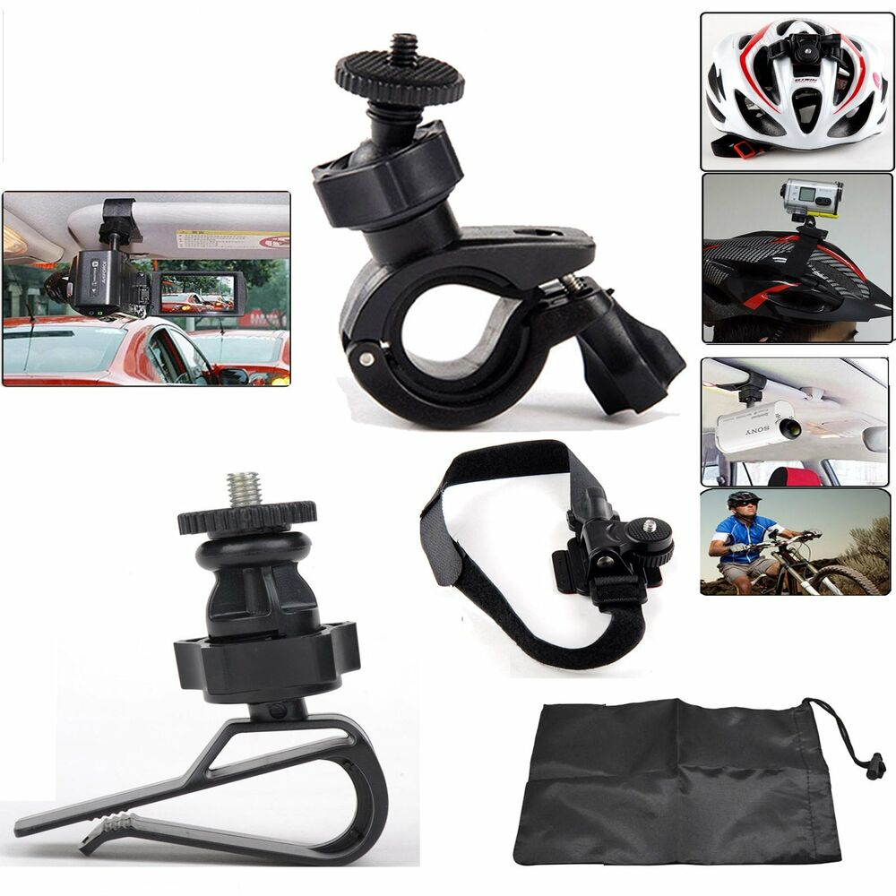 Accessories Kit For Sony Action Cam Helmet Handlebar Car