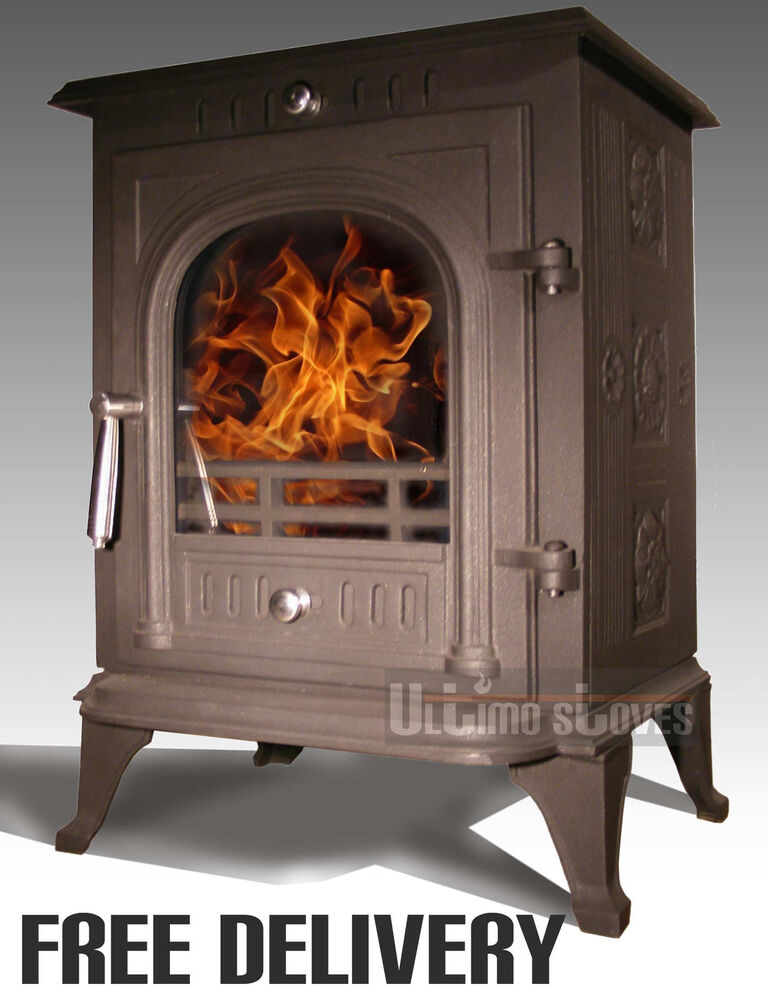 Ultimo stoves luminus multi fuel efficient wood burning for Small efficient wood stoves