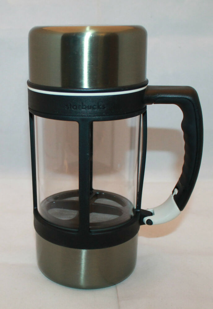 Starbucks Travel Coffee Maker : Starbucks Coffee Barista 2004 Stainless French Press Insulated Travel Mug 24oz eBay