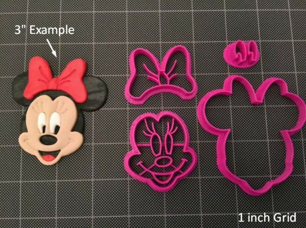 Minnie Mouse Fondant Cutter Cookie Topper Cupcake