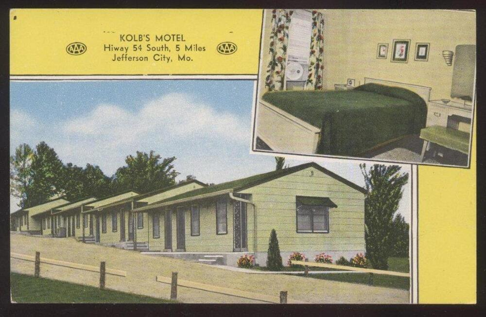 Postcard Jefferson City Missouri Mo Kolb 39 S Motel Motor