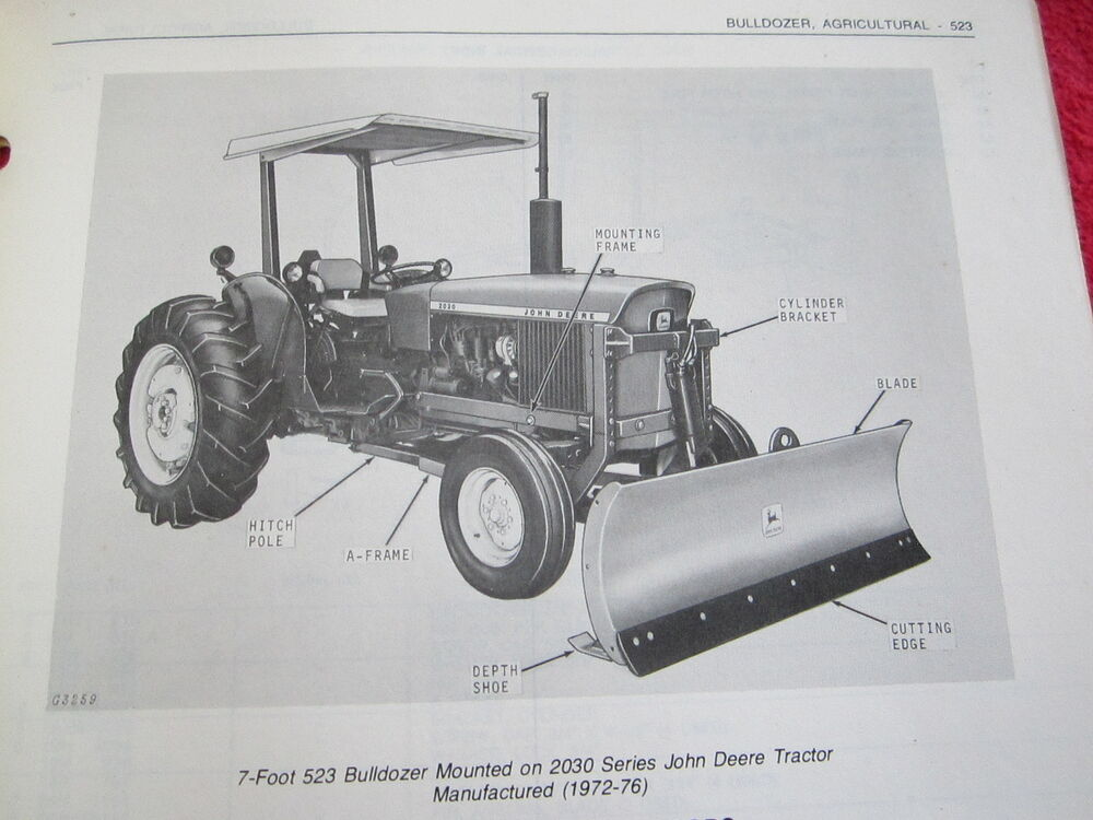 Tractor Parts Catalogues : Jd john deere agricultural bulldozer tractor