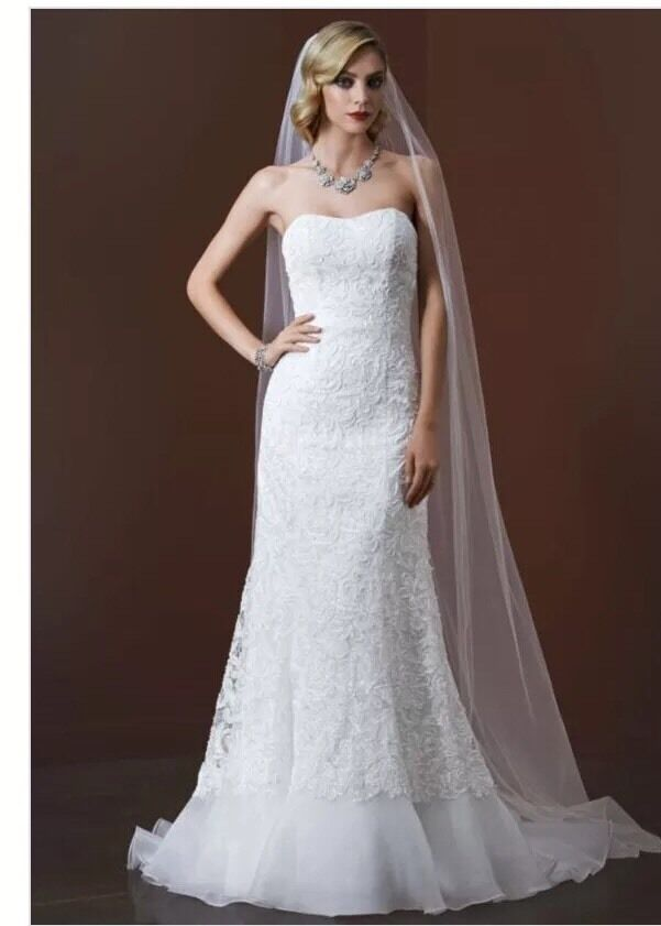 David's Bridal, 4P Petites, Mermaid & Trumpet, Lace, Soft ...