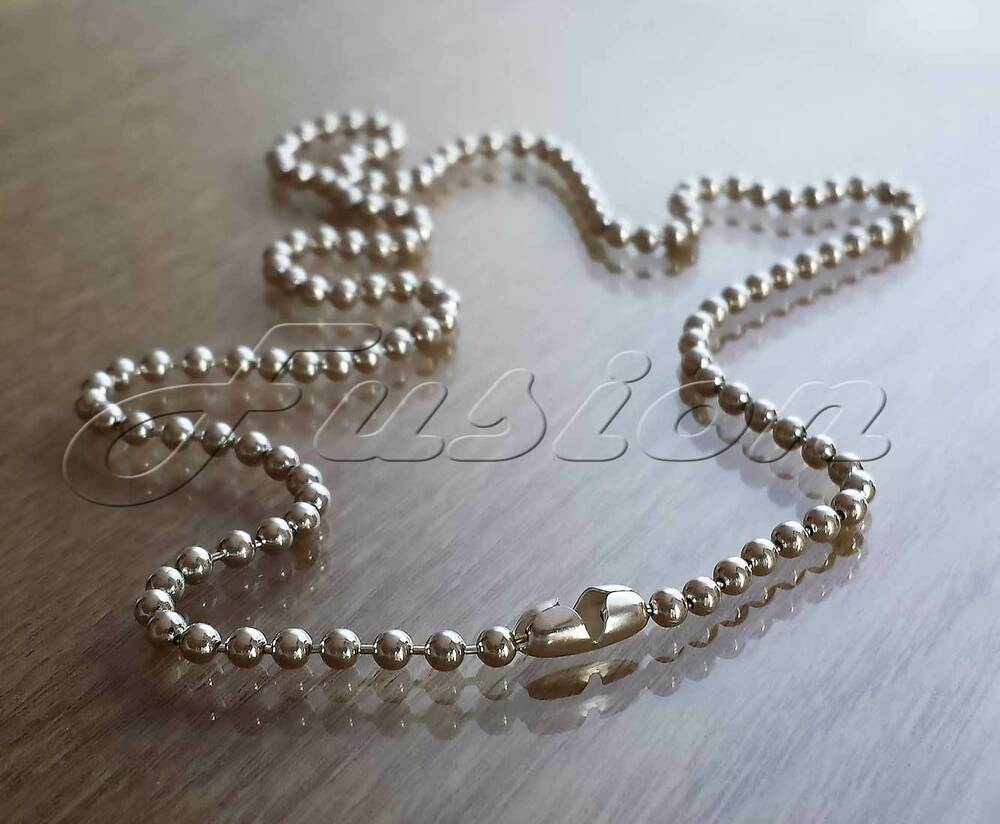 925 Sterling Silver Bead Ball Chain Necklace Anklet