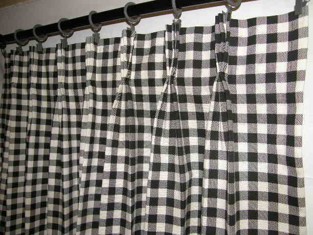 French Country Cafe Tiers 100% cotton Pinch Pleated PANEL Curtain ...