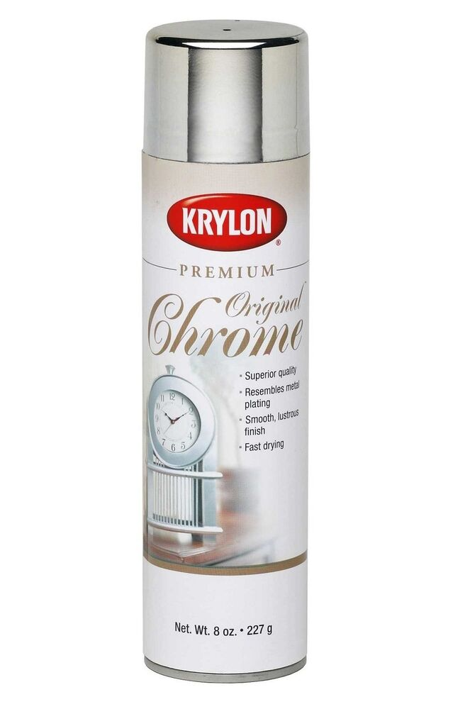 krylon original chrome premium metallic spray paint 8 oz ebay. Black Bedroom Furniture Sets. Home Design Ideas