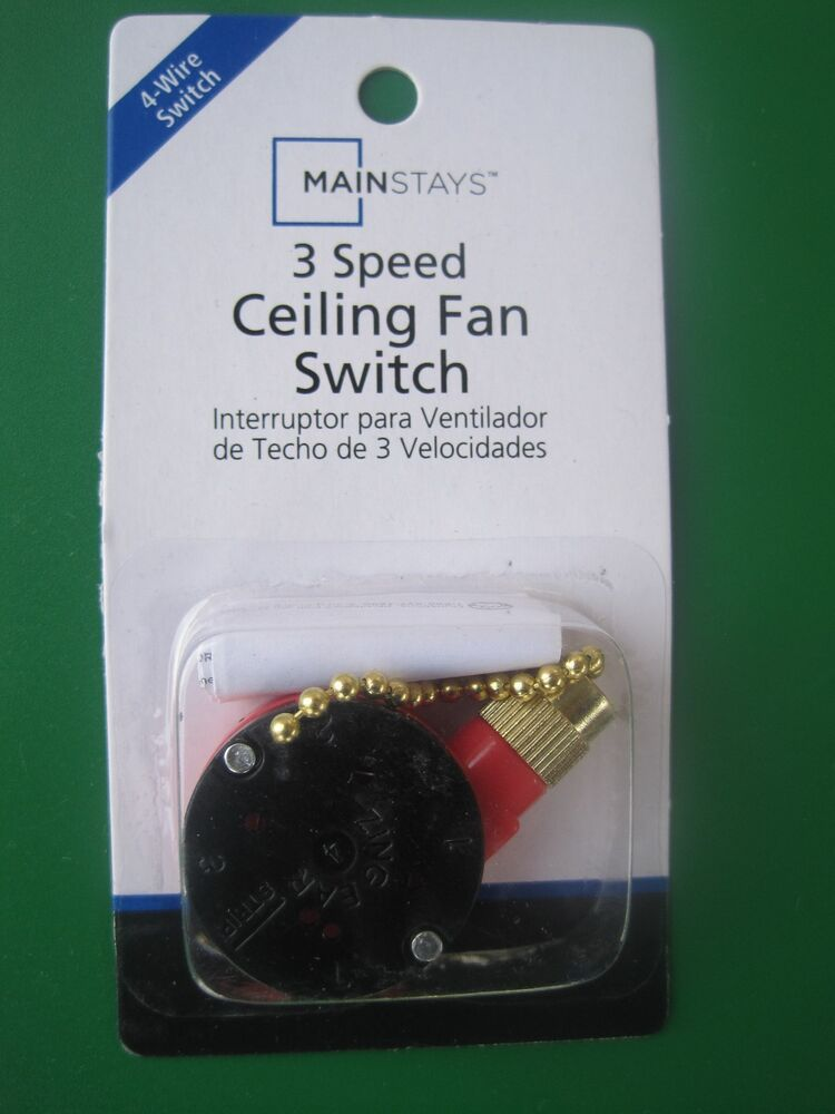 Chapter/Mainstays 3 Speed / 4 Wire Ceiling Fan Switch | eBay
