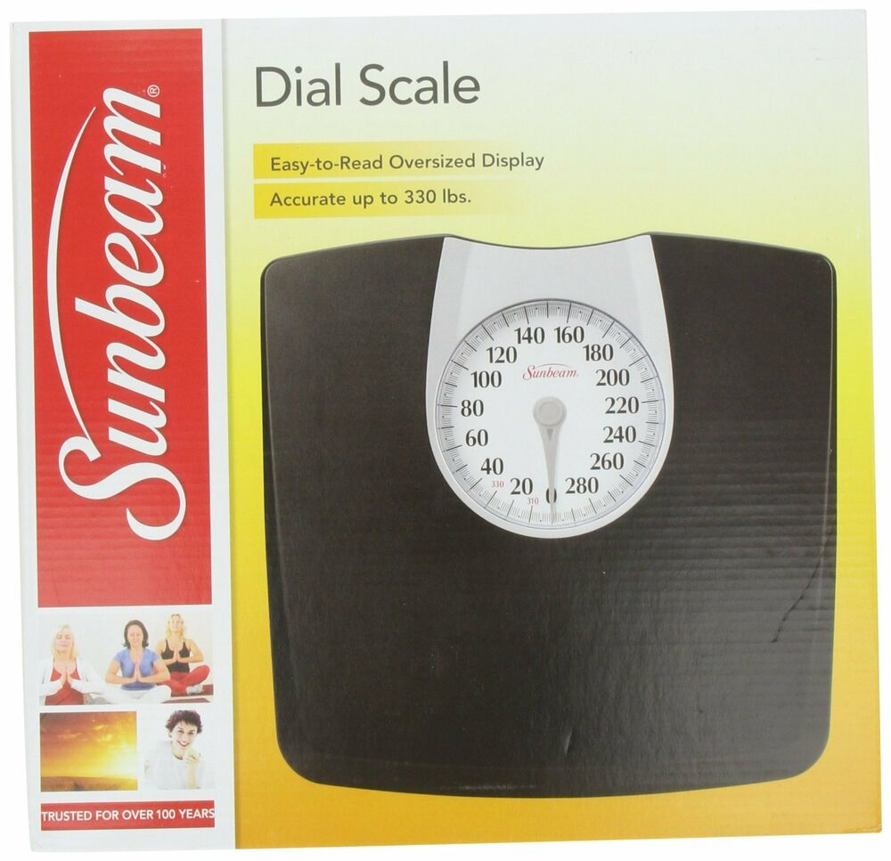 NEW Sunbeam Full View Accurate Bathroom Dial Analog Weight