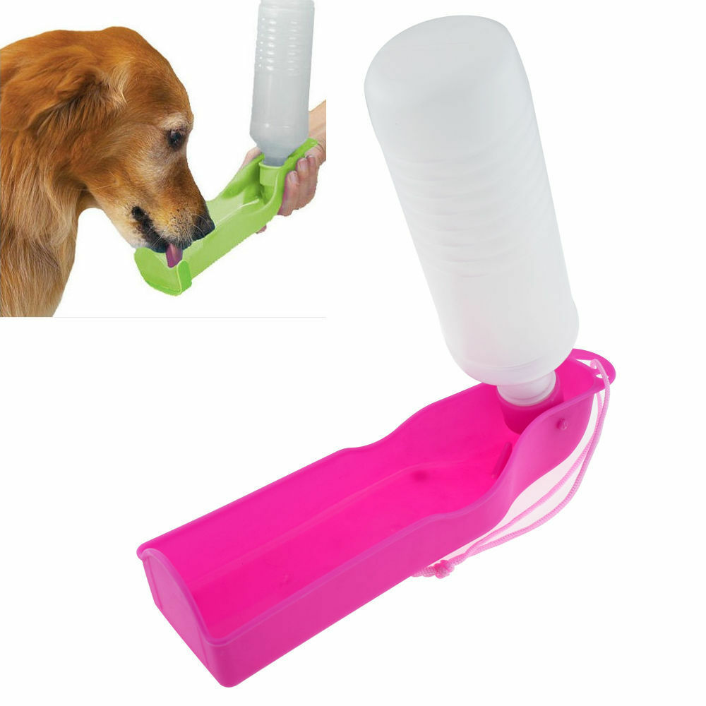Pets Dog Water Bottle Bowl Portable Drink Dish Cat Bird