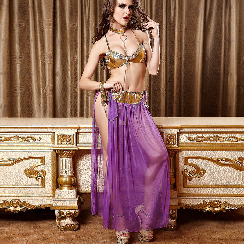 Details about Sexy Gold Lingerie Bikini Stripper Erotic Club wear Belly  Dance costumes