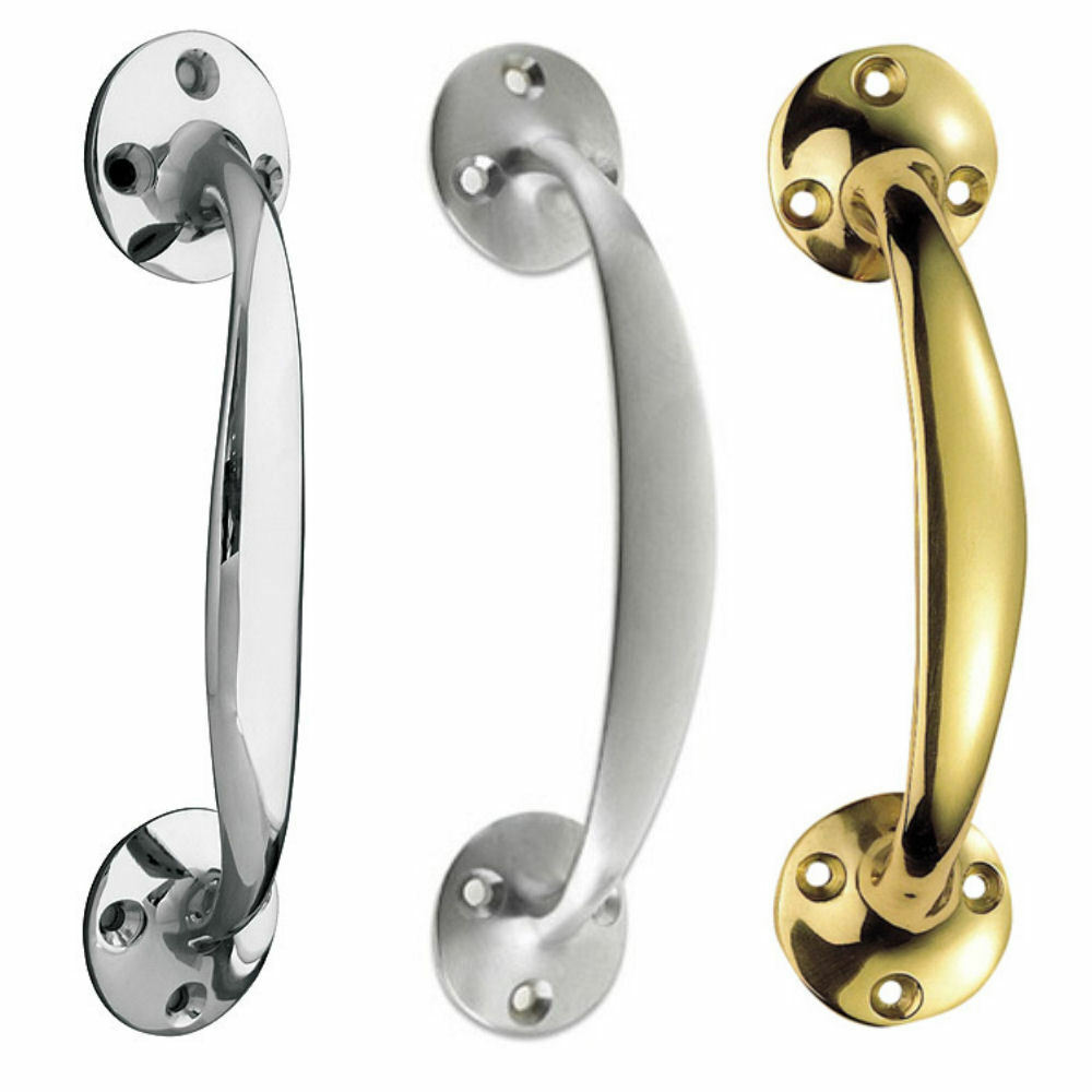 6 Quot Bow Handles Polished Brass Chrome Or Satin Chrome Door